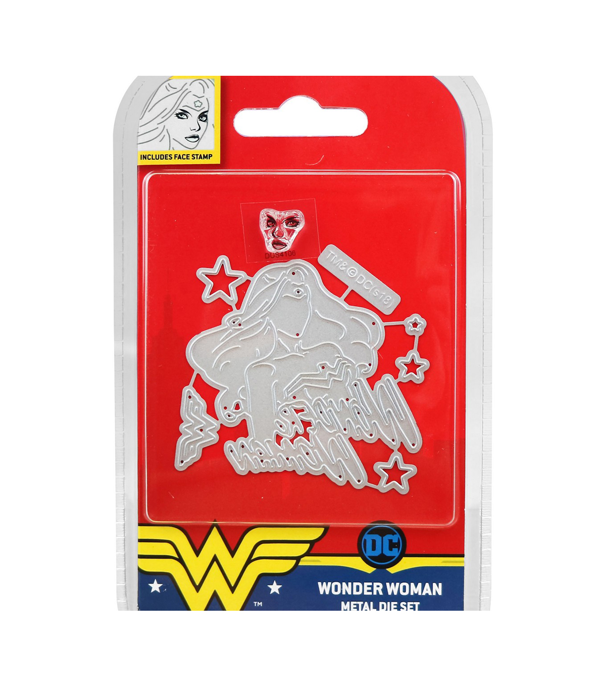 Character World DC Comics Wonder Woman Dies & Face Stamp