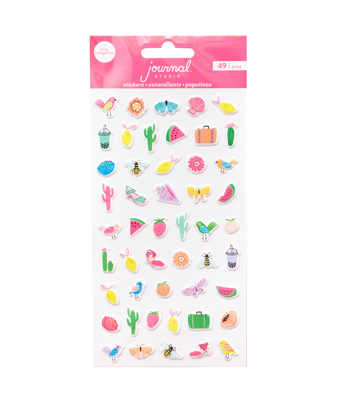 American Crafts Journal Studio 49 pk Mini Puffy Stickers-Adventure