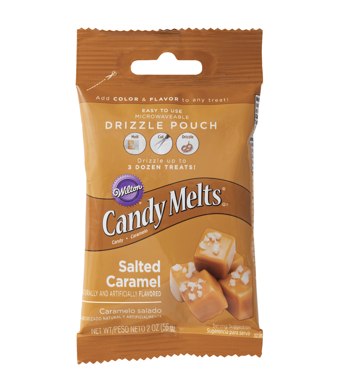 Wilton Drizzle Pouch 2oz-Salted Caramel