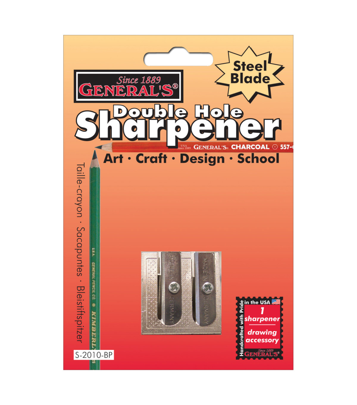 General Pencil Double Hole Metal Sharpener