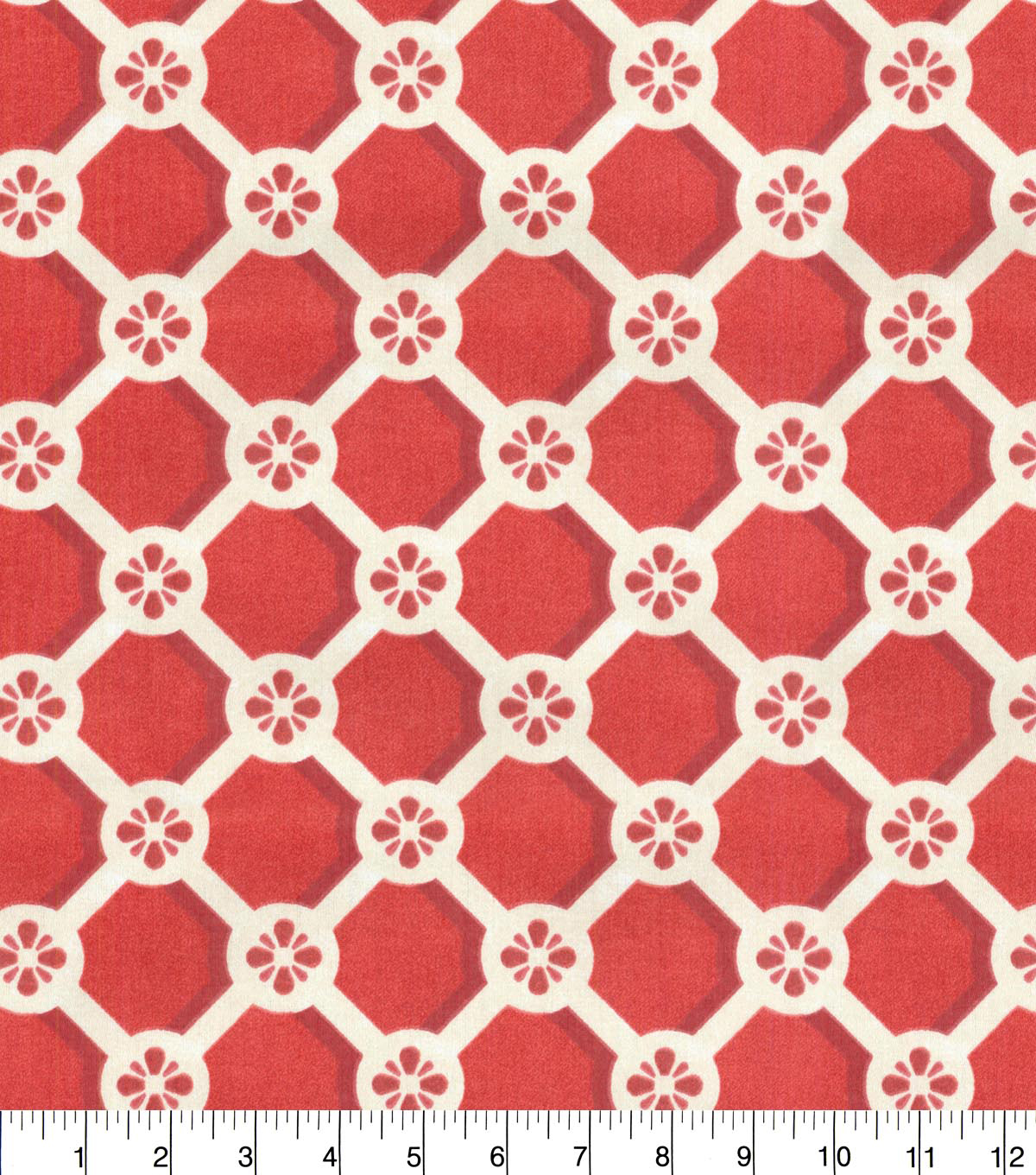 Home Decor 8\u0022x8\u0022 Fabric Swatch-P/K Lifestyles Trellis Caprice Cinnabar