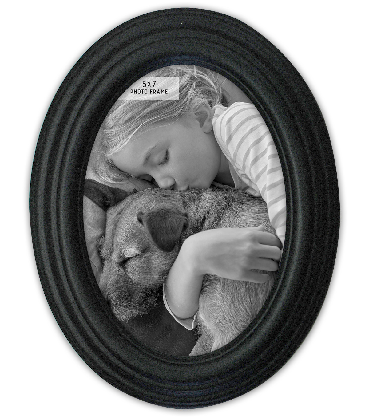 Oval Distressed Black Photo Frame Joann