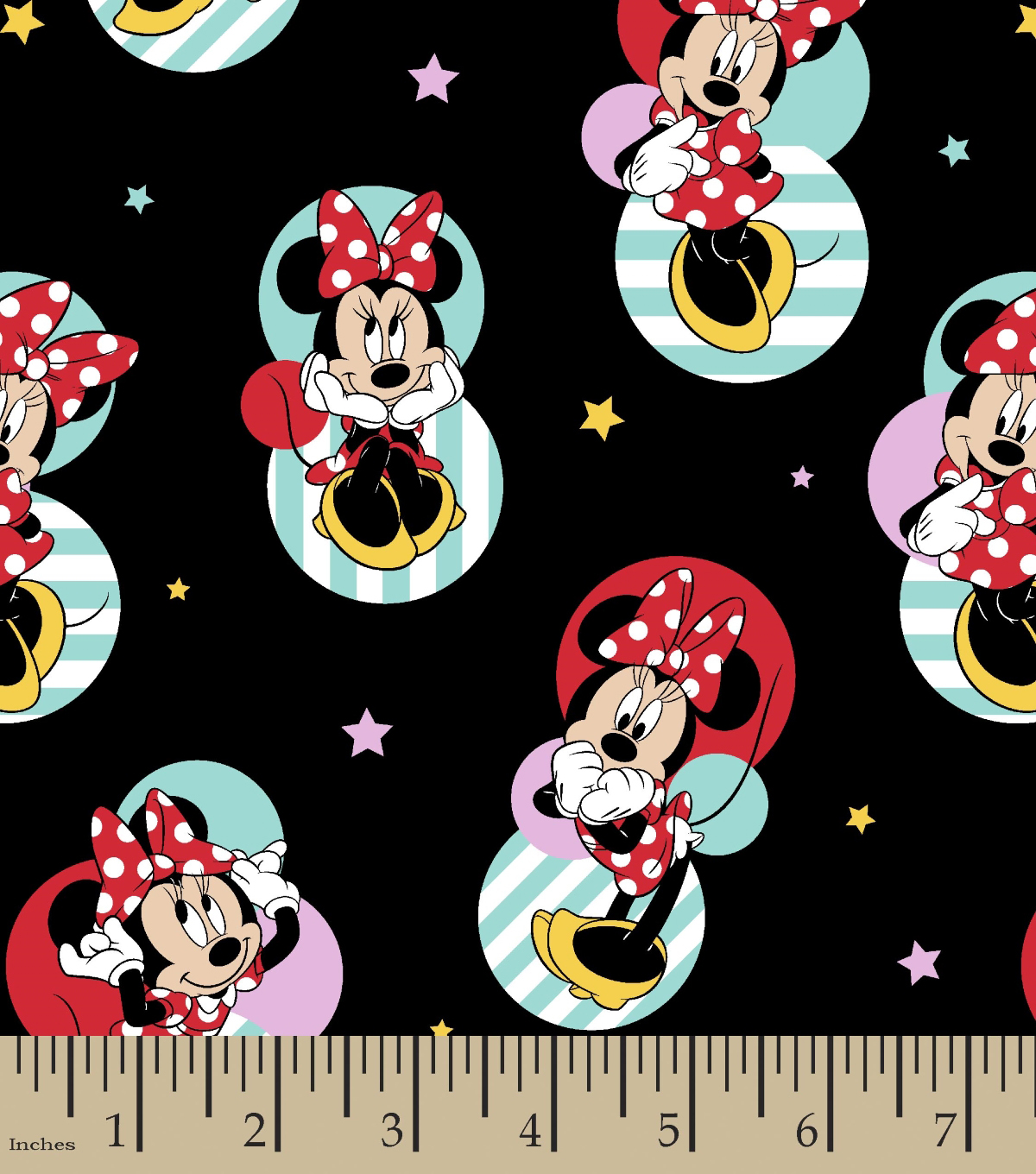 Disney Minnie Mouse Cotton Fabric -Traditional