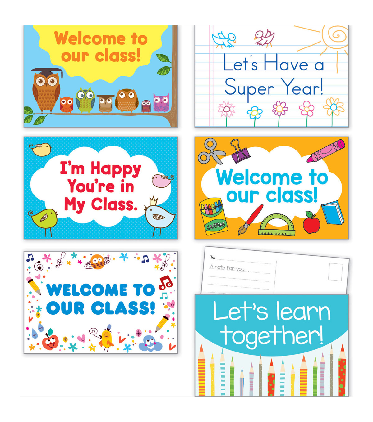 Back To School Postcards, 36 Per Pack, 3 Packs