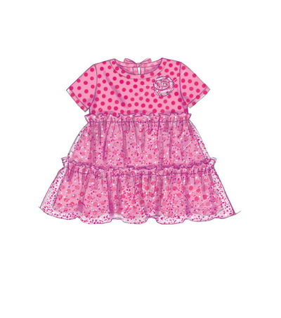 McCall\u0027s Pattern M7458 Toddlers\u0027 Tops, Dresses & Leggings-Size 1/2-4