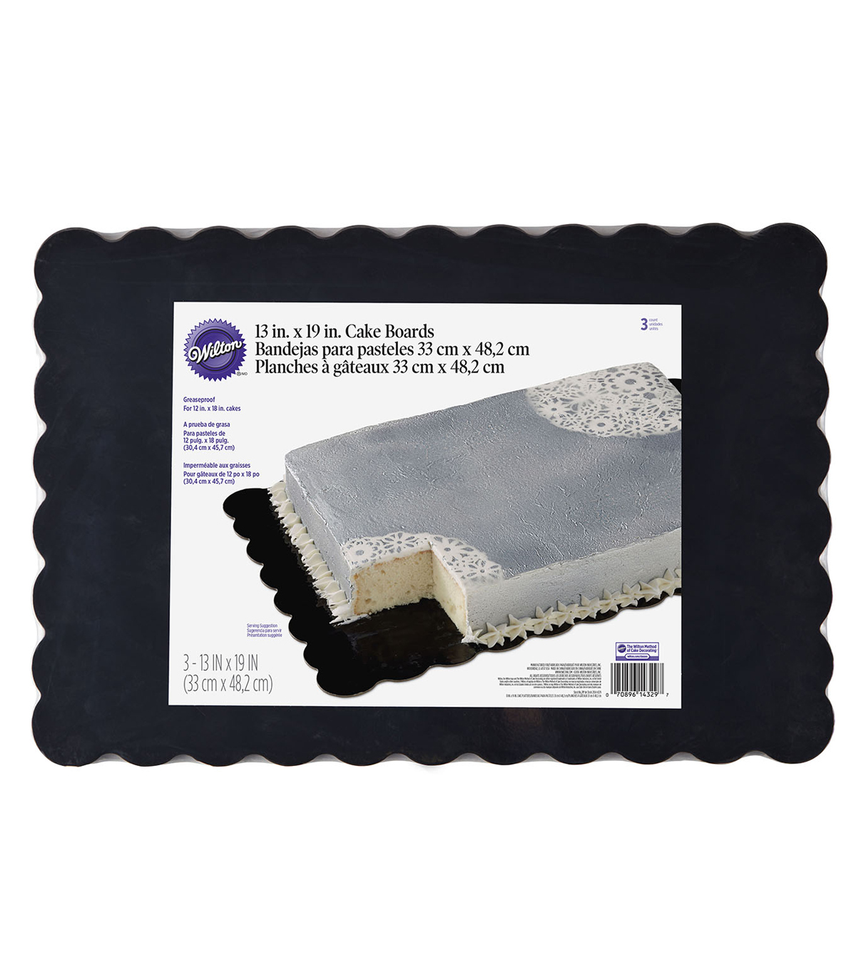 Wilton Scalloped Black Cake Boards