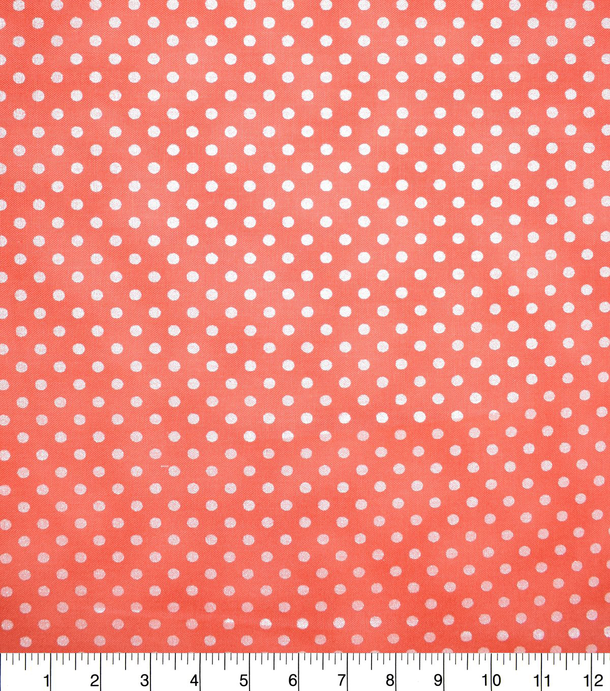 Premium Cotton Fabric-Red Lucy Dots