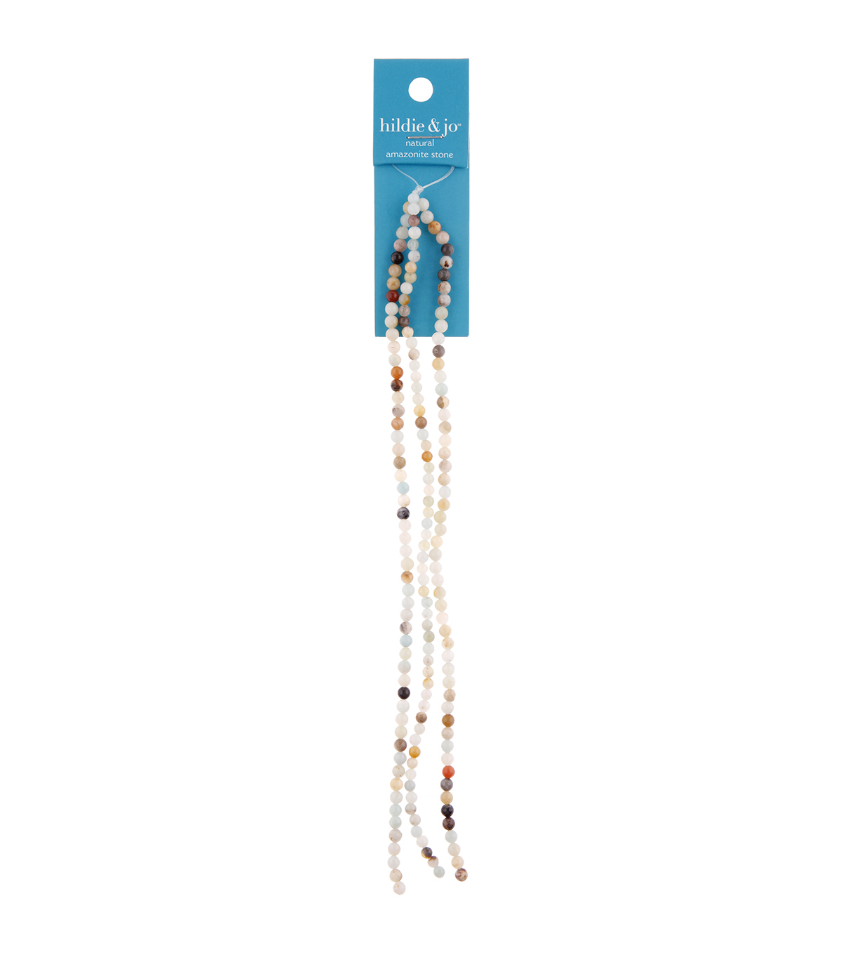hildie & jo 21\u0027\u0027 Round Amazonite Stone Multi Strand Beads-Mixed Color