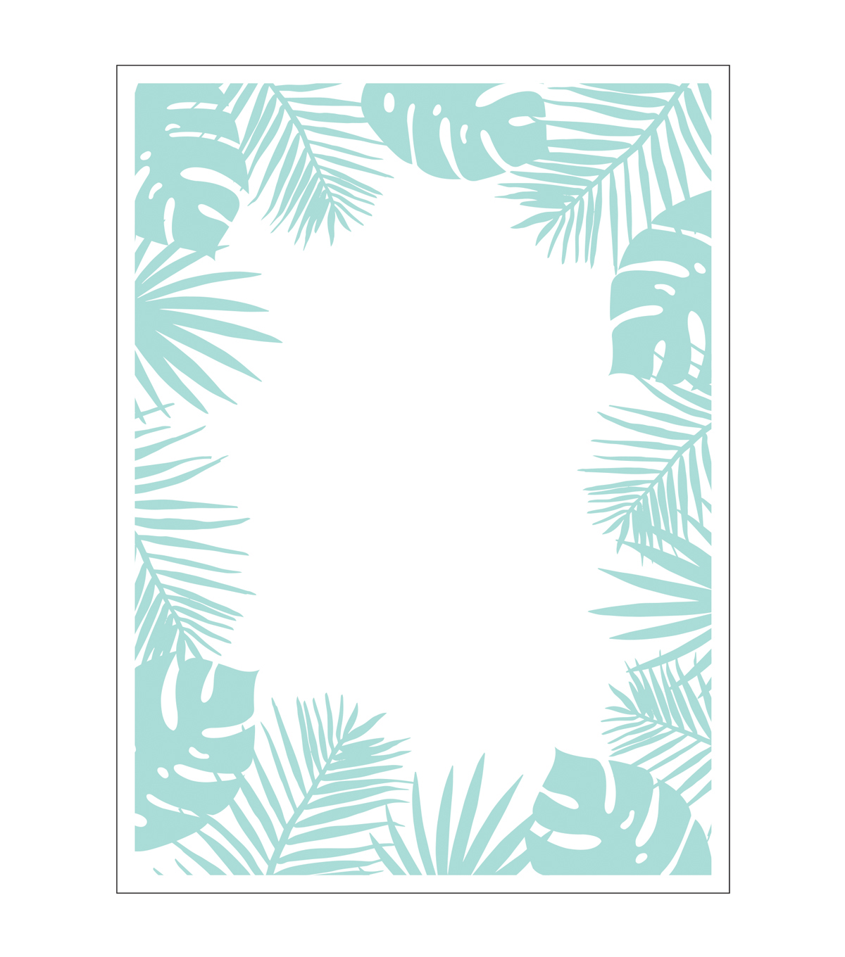 Park Lane A2 Embossing Folder-Tropical Border