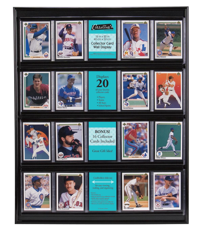 Baseball Card Display Plastic Black | JOANN