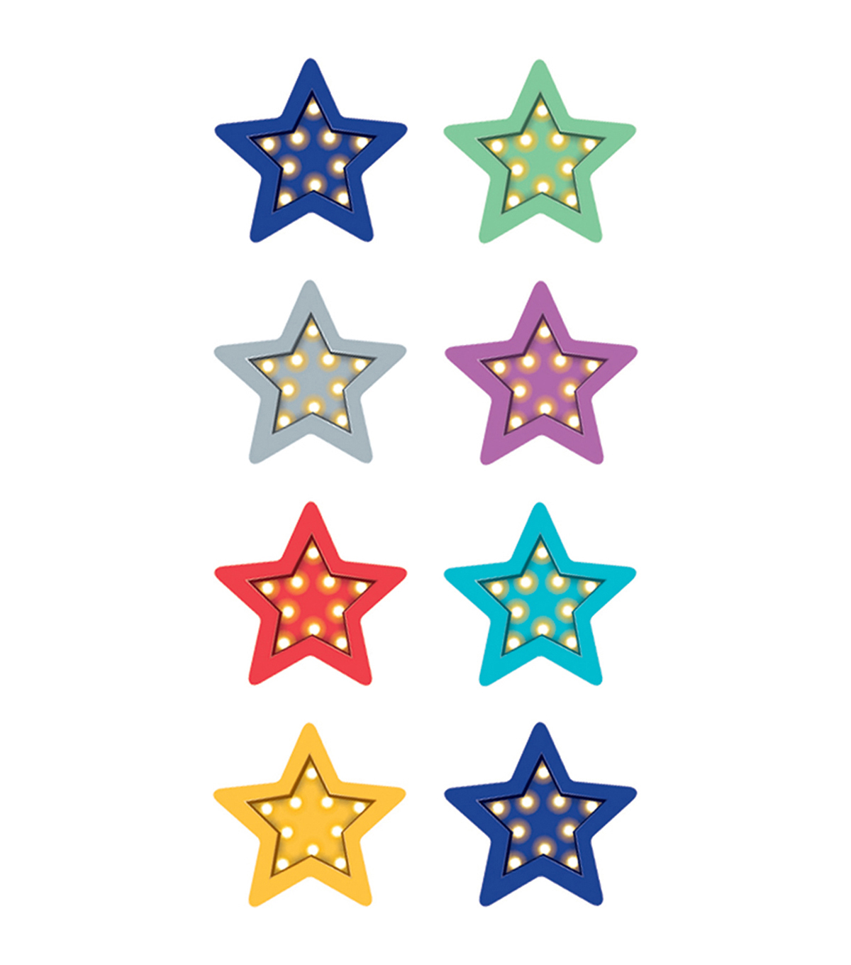 Teacher Created Resources Marquee Stars Mini Stickers 6 Packs