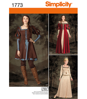 Simplicity Pattern 1773-Misses\u0027 Midieval Costumes, Sizes 6-8-10-12
