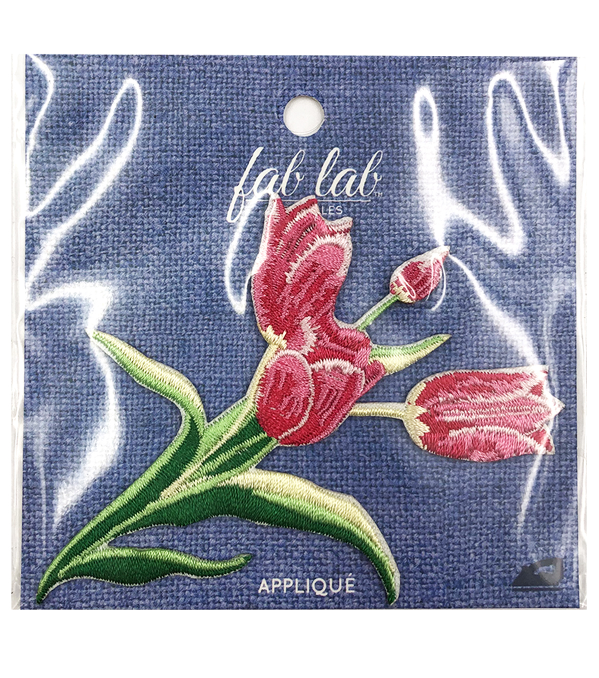 Fab Lab Wearables Tulip Iron-on Applique-Pink
