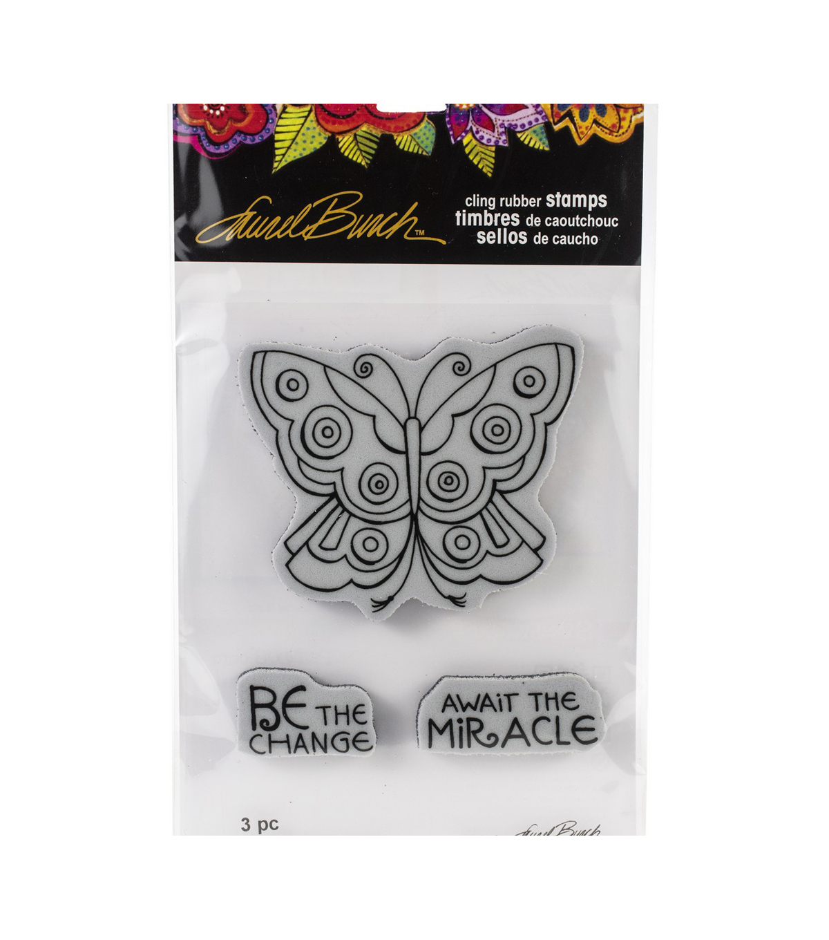 Stampendous Laurel Burch Cling Stamp-Mosaic Butterfly