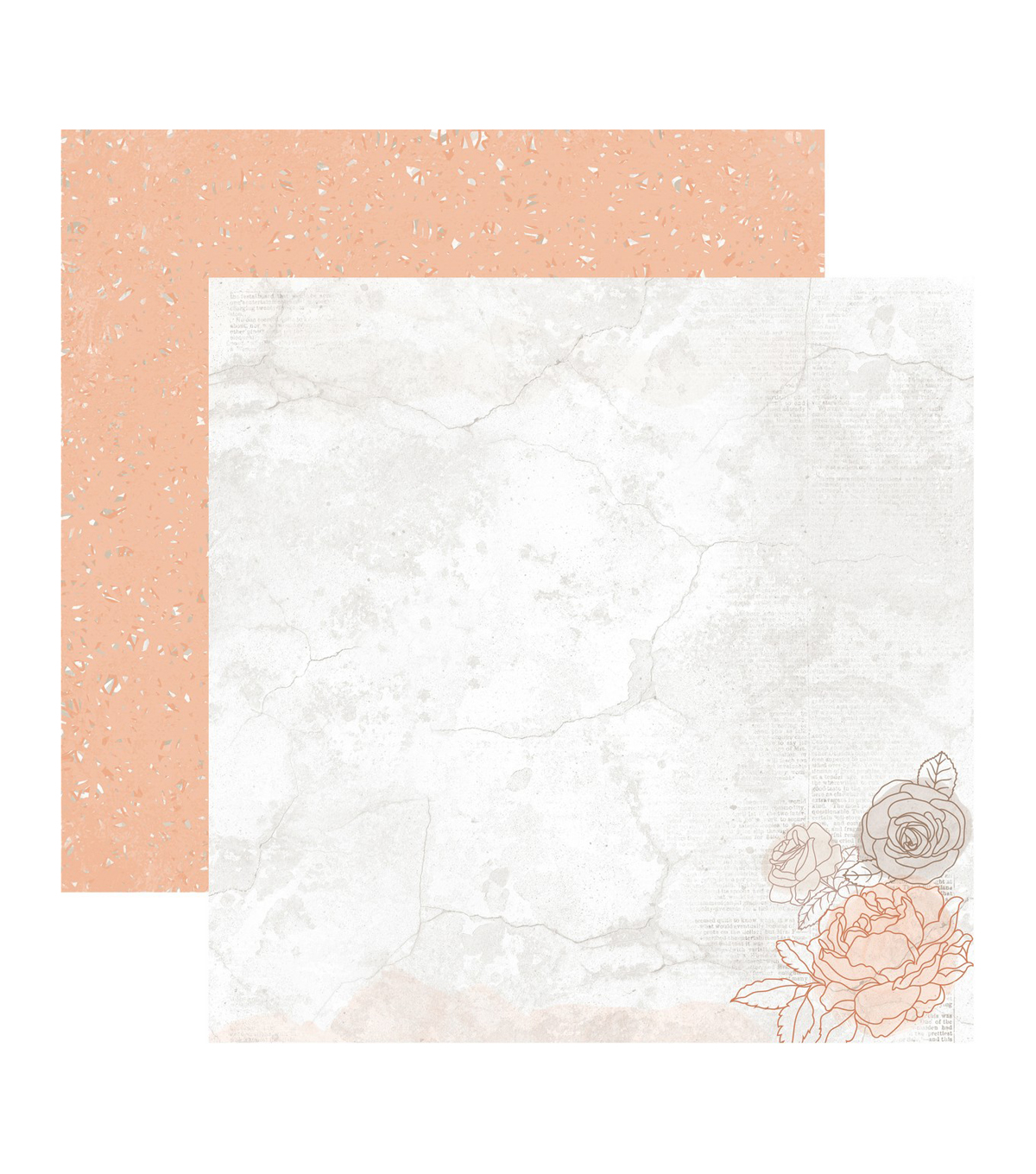 Kaisercraft Peachy 10 pk 12\u0027\u0027x12\u0027\u0027 Double-sided Cardstock-Amber