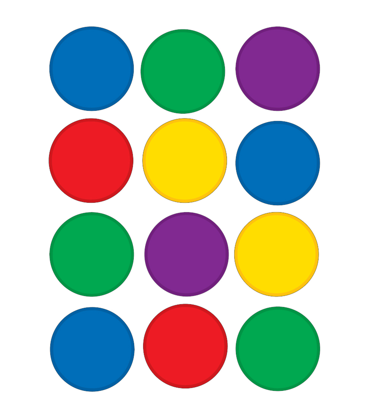 Colorful Circles Mini Accents 36/pk Set Of 12 Packs