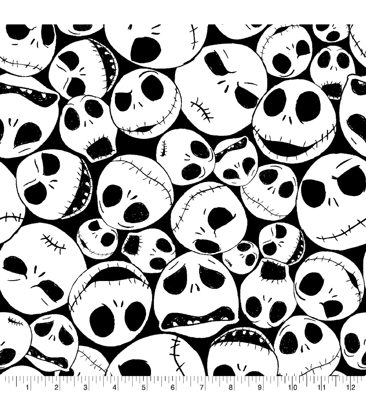 Nightmare Before Christmas Halloween Fleece Fabric 59\u0022-Packed Jack