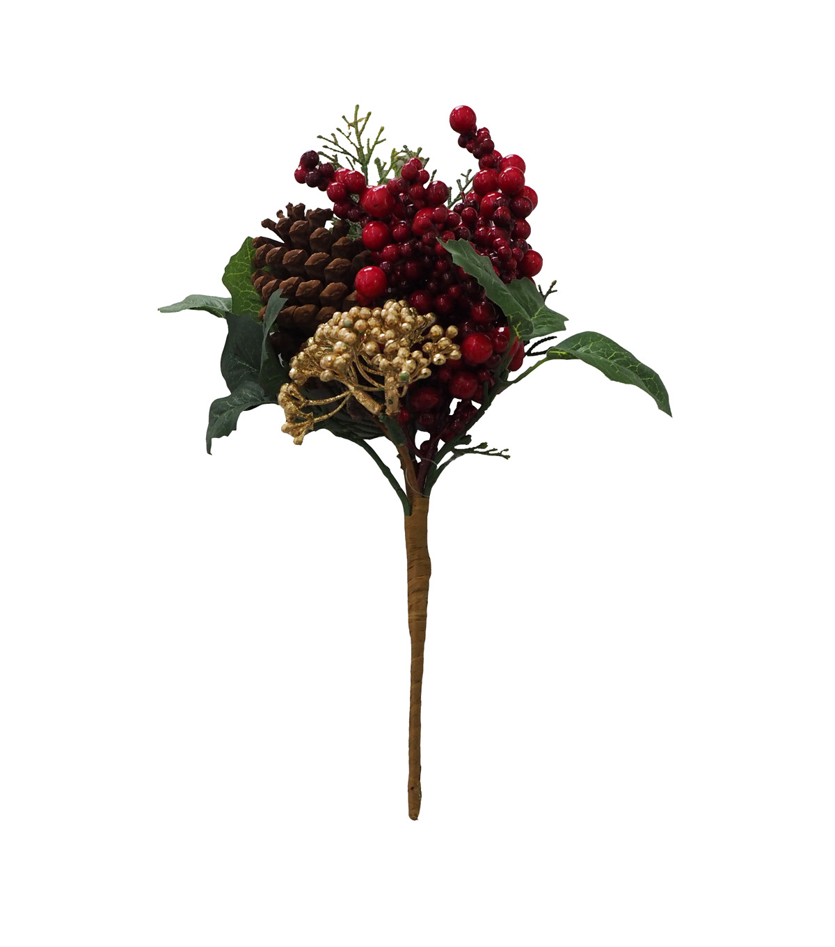 Blooming Holiday Christmas 12\u0027\u0027 Berry & Pinecone Pick
