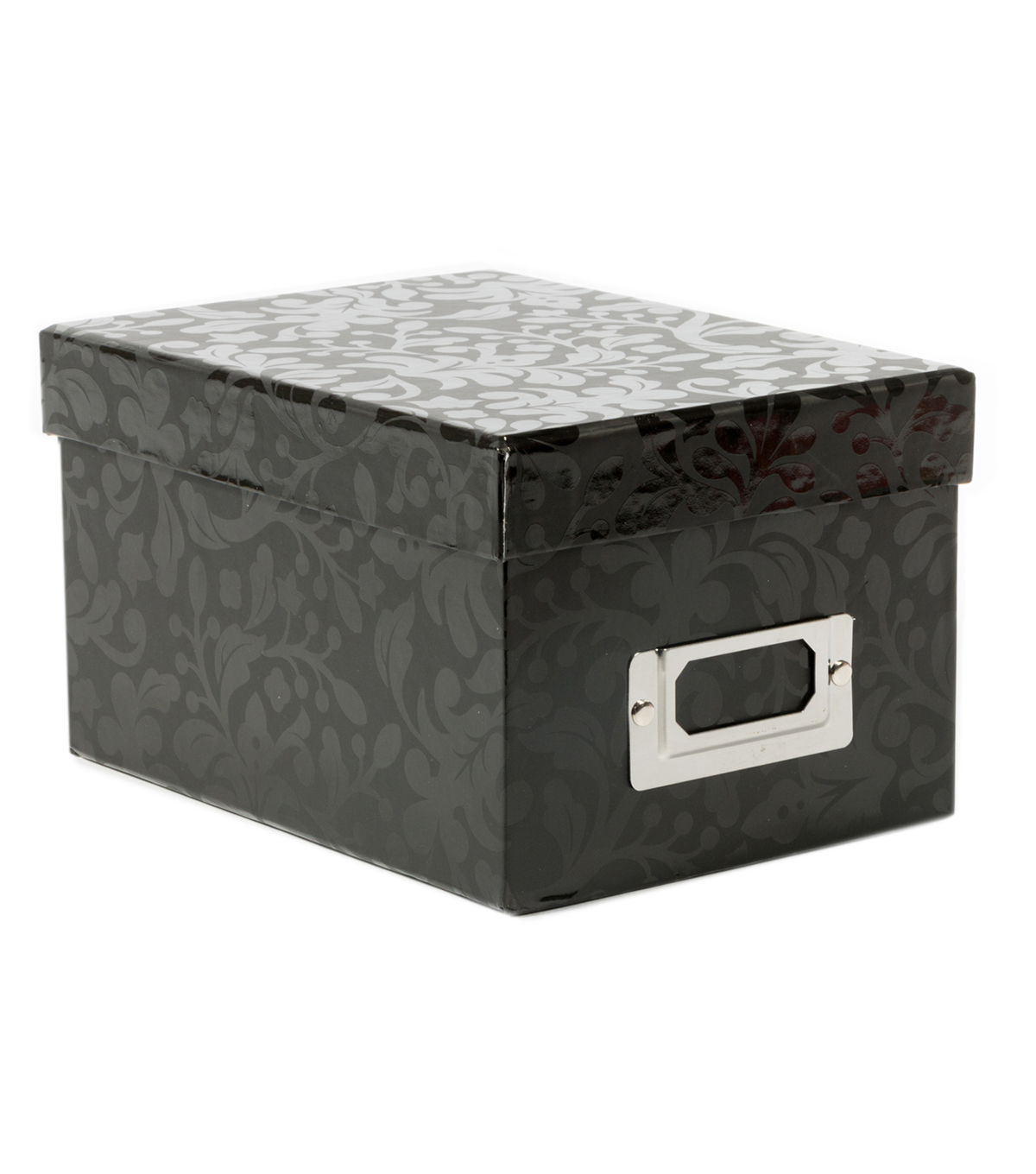 DCWV Mini Box: Black with floral patterns