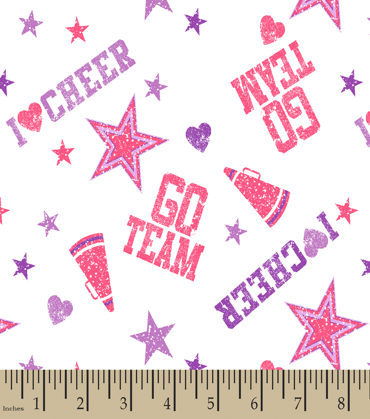 Cheerleader Print Fabric