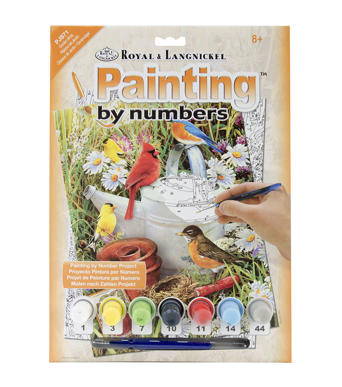 Junior Small Paint by Number Kit 8.75\u0022x11.75\u0022-Garden Birds