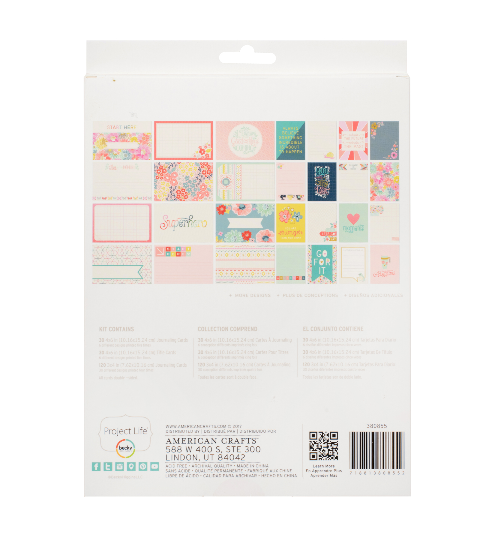 Project Life Turn the Page Paige Evans 180 pk Value Kit