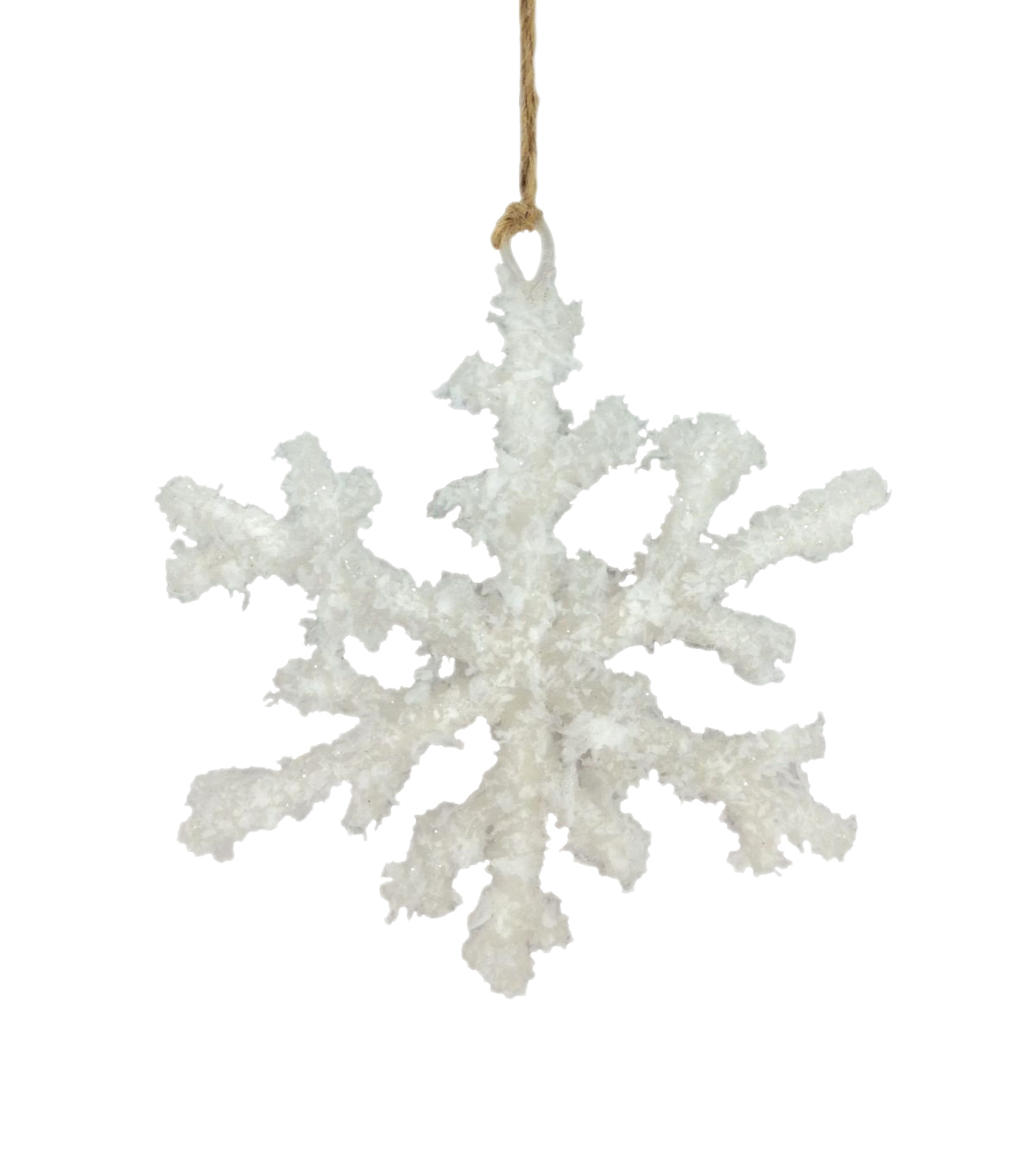 Maker\u0027s Holiday Christmas Beach Frosted Snowflake Ornament