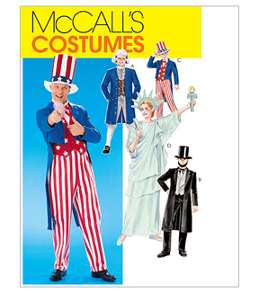 McCall\u0027s Pattern M6143 Adult & Childrens\u0027 Political Costumes