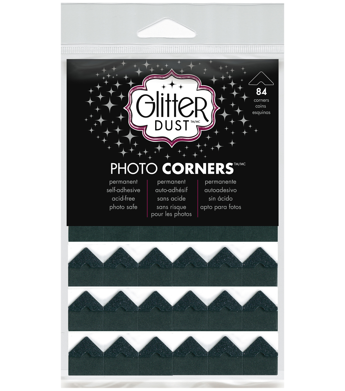 Glitter Photo Corners Black Sheets can be used on Paper and Photo\u0027. Strong Adhesive