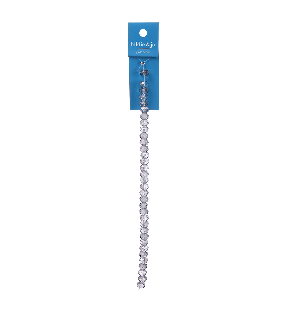 Blue Moon Strung Machine Cut Crystal Beads,Rondelle,Clear,Facetted