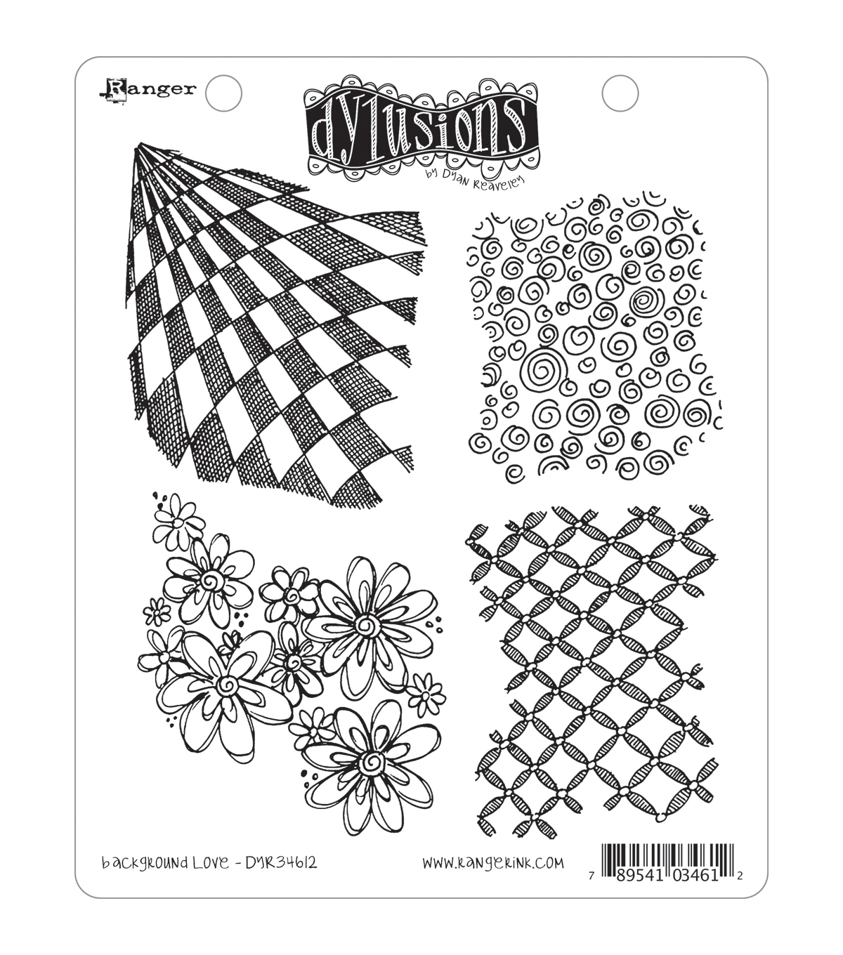 Dyan Reaveley\u0027s Dylusions Cling Stamp Collection-Background Love