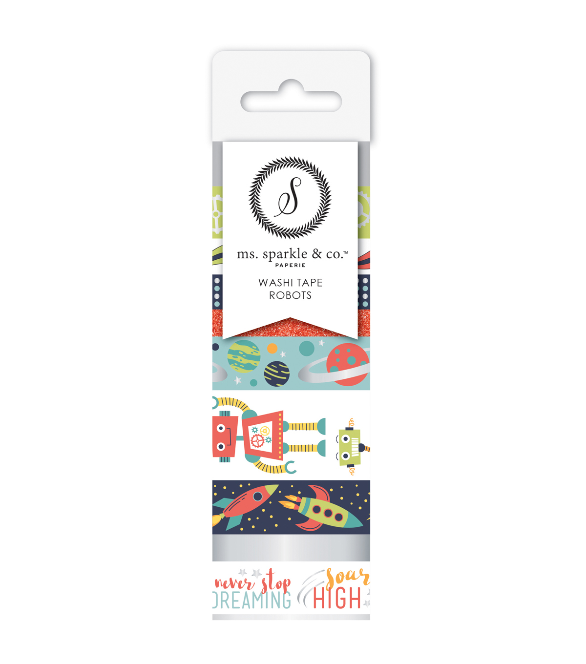 Ms. Sparkle & Co. 9 pk Washi Tapes-Robots