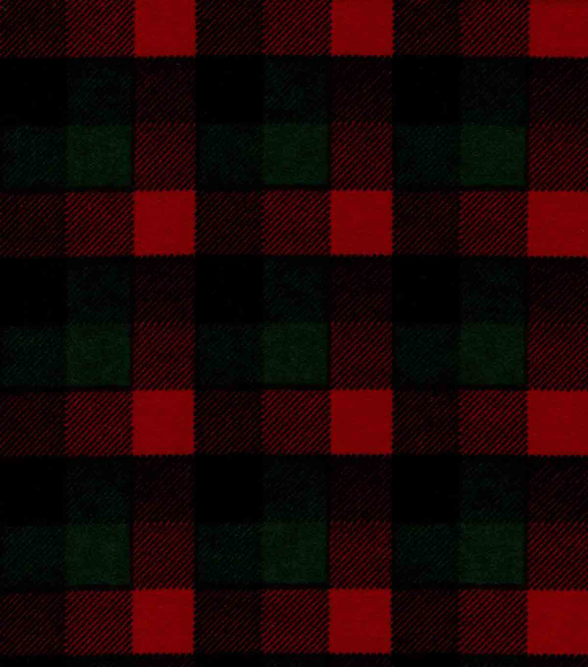 Snuggle Flannel Fabric -Red & Green Buffalo Checks