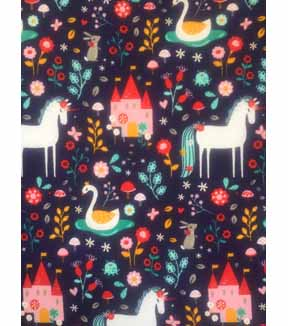 Doodles Juvenile Apparel Fabric 57\u0027\u0027-Unicorn & Garden
