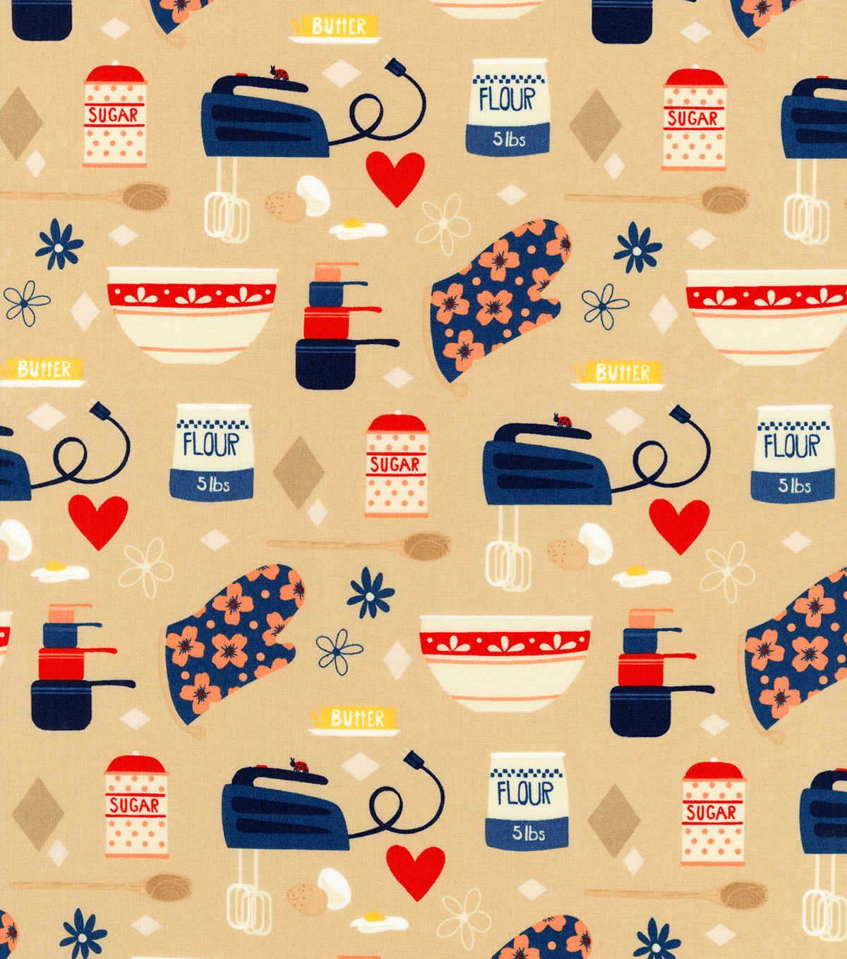 Novelty Cotton Fabric 44\u0022-Baking Supplies