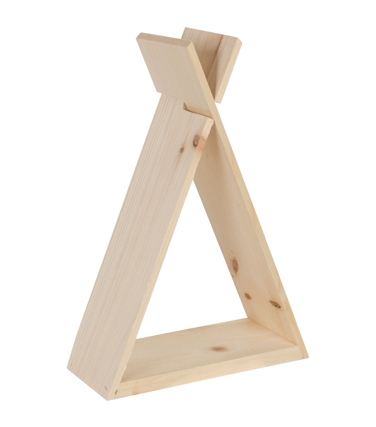Walnut Hollow Small Pine Teepee Shelf
