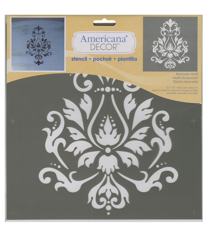 DecoArt Americana Decor 12\u0027\u0027x12\u0027\u0027 Stencil Brocade Motif