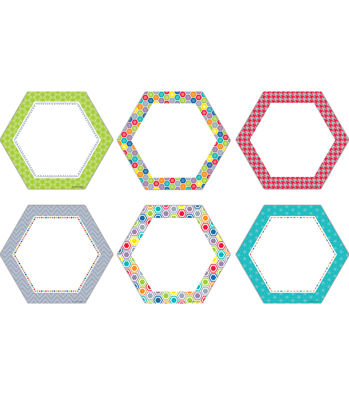HexaFun Hexagons 6\u0022 Designer Cut-Outs