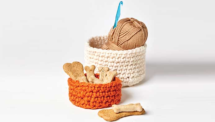 Crochet: Round Basket