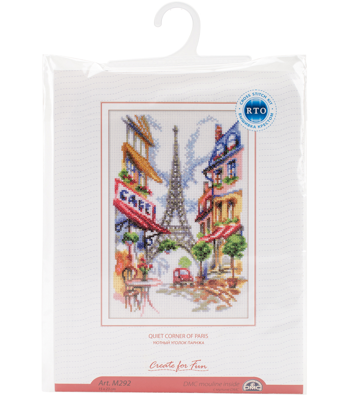 Quiet Corner Of Paris Counted Cross Stitch Kit 14 Count