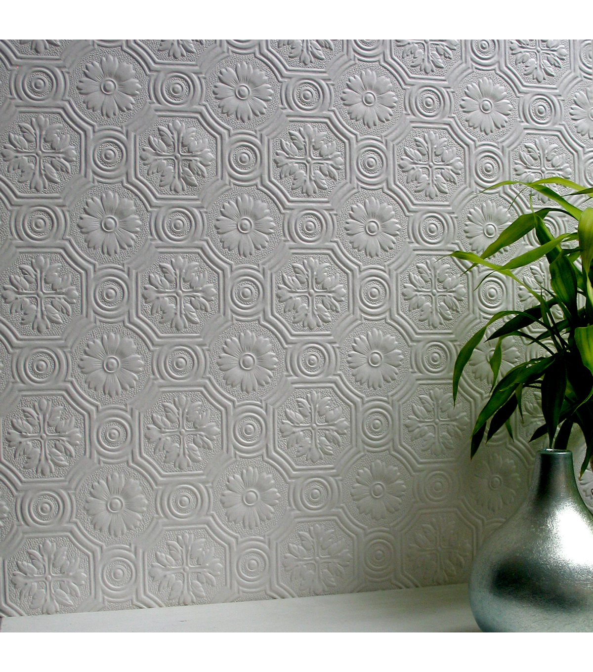 Spencer Paintable Supaglypta Wallpaper Sample