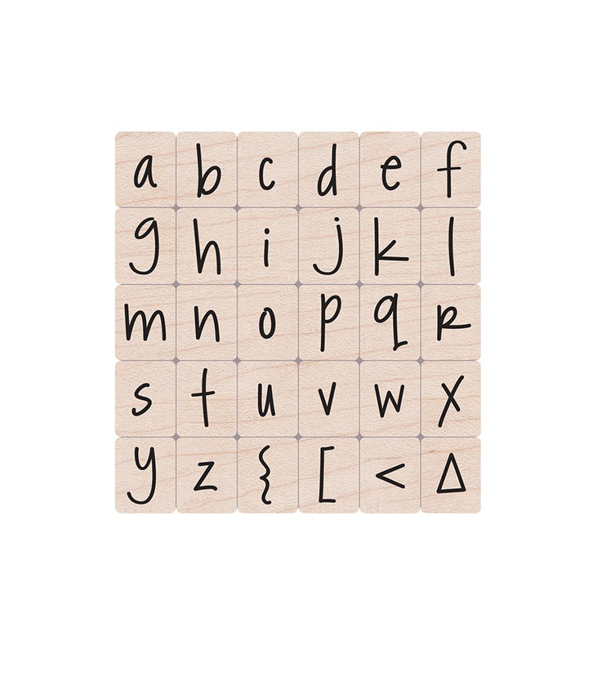 Happy Lower Case Alphabet Stamps