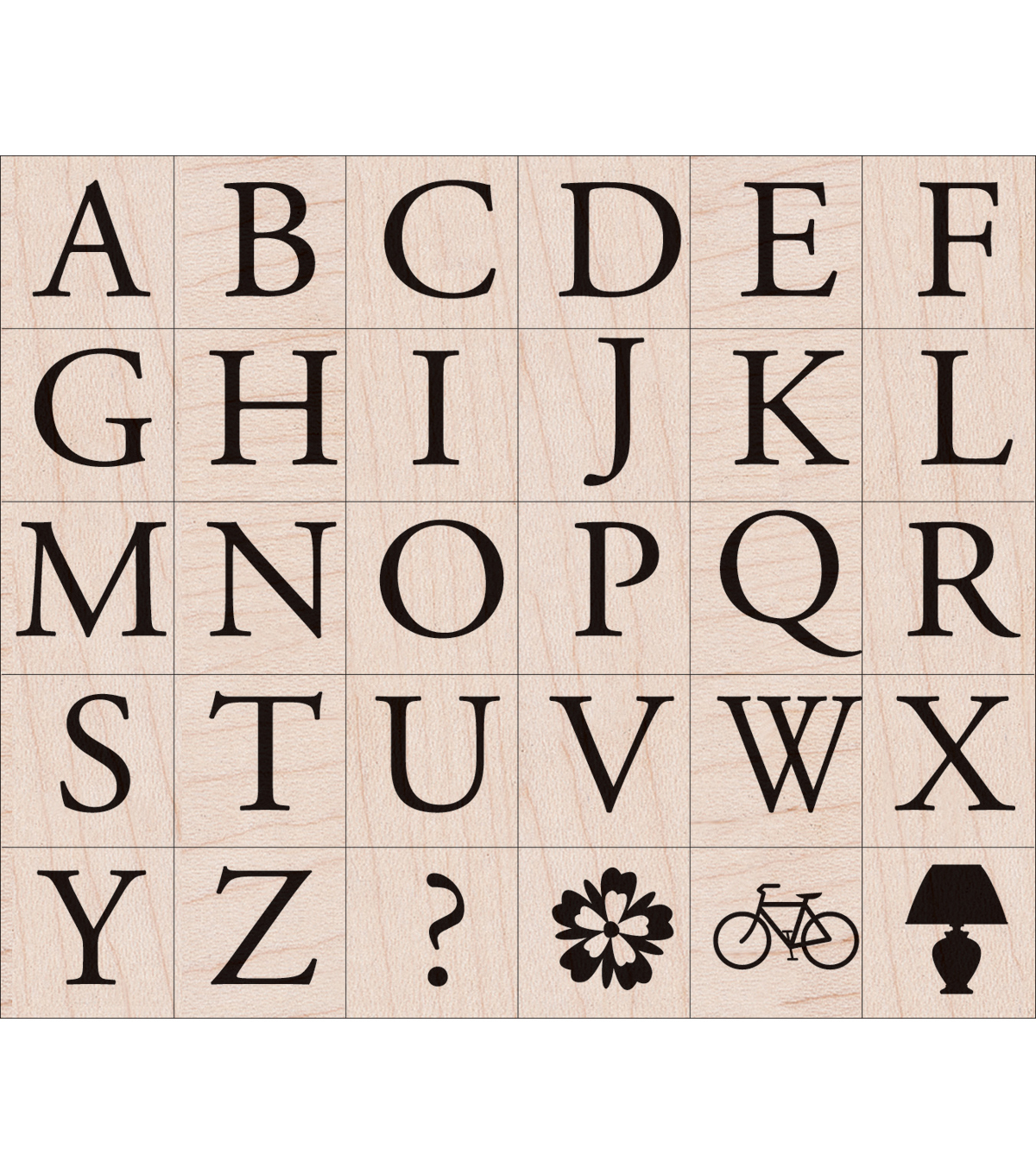 Hero Arts Rubber Stamp Set Garamond Letters