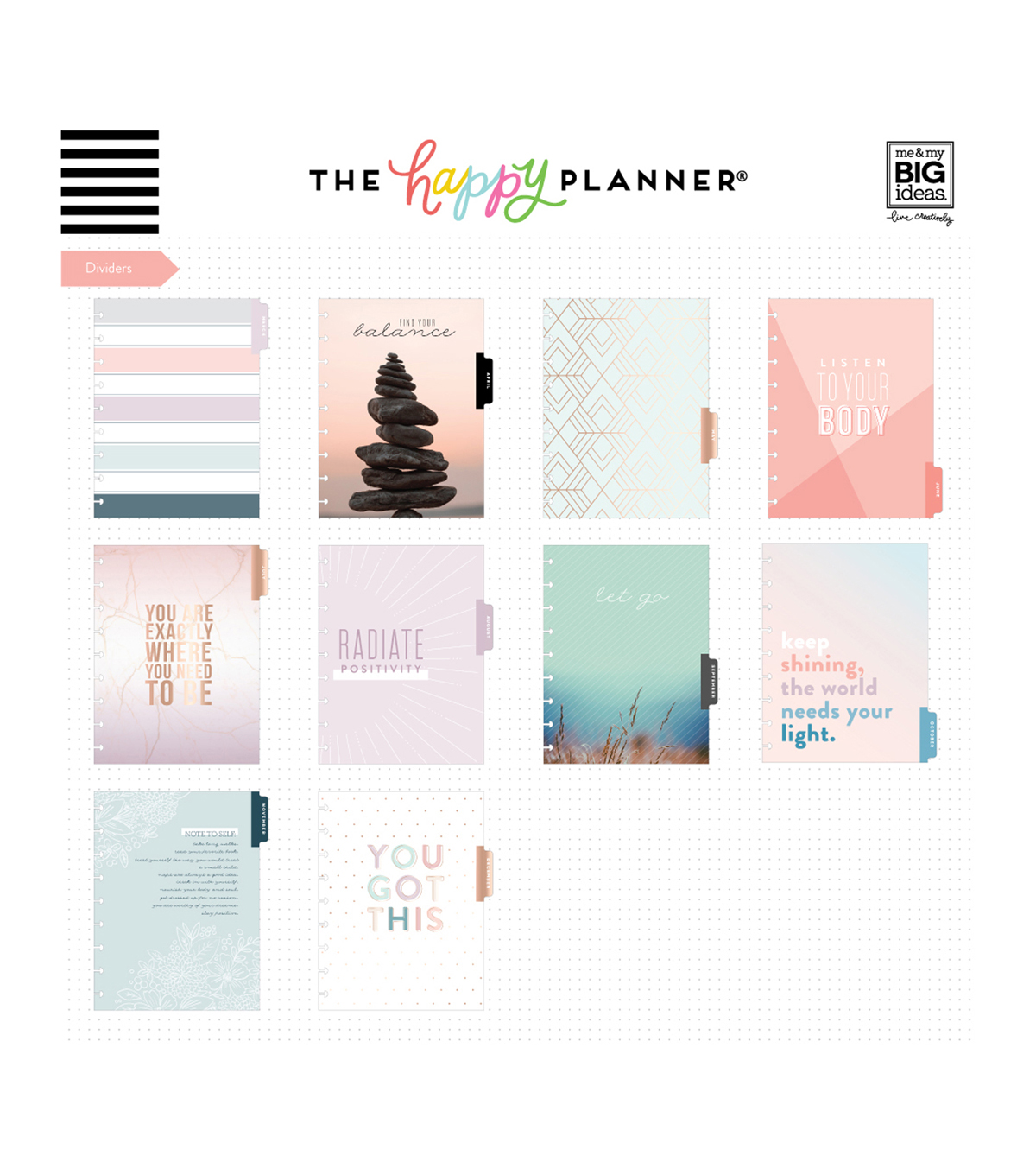 The Happy Planner 18 Month Wellness Edition Planner-Just Breathe