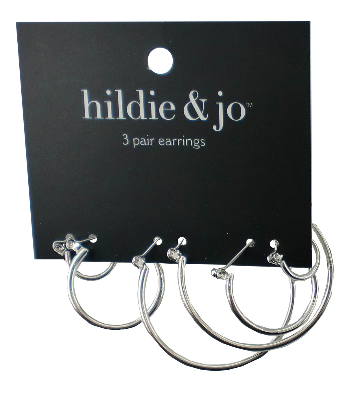 hildie & jo 3 Pack Silver Hoop Earrings