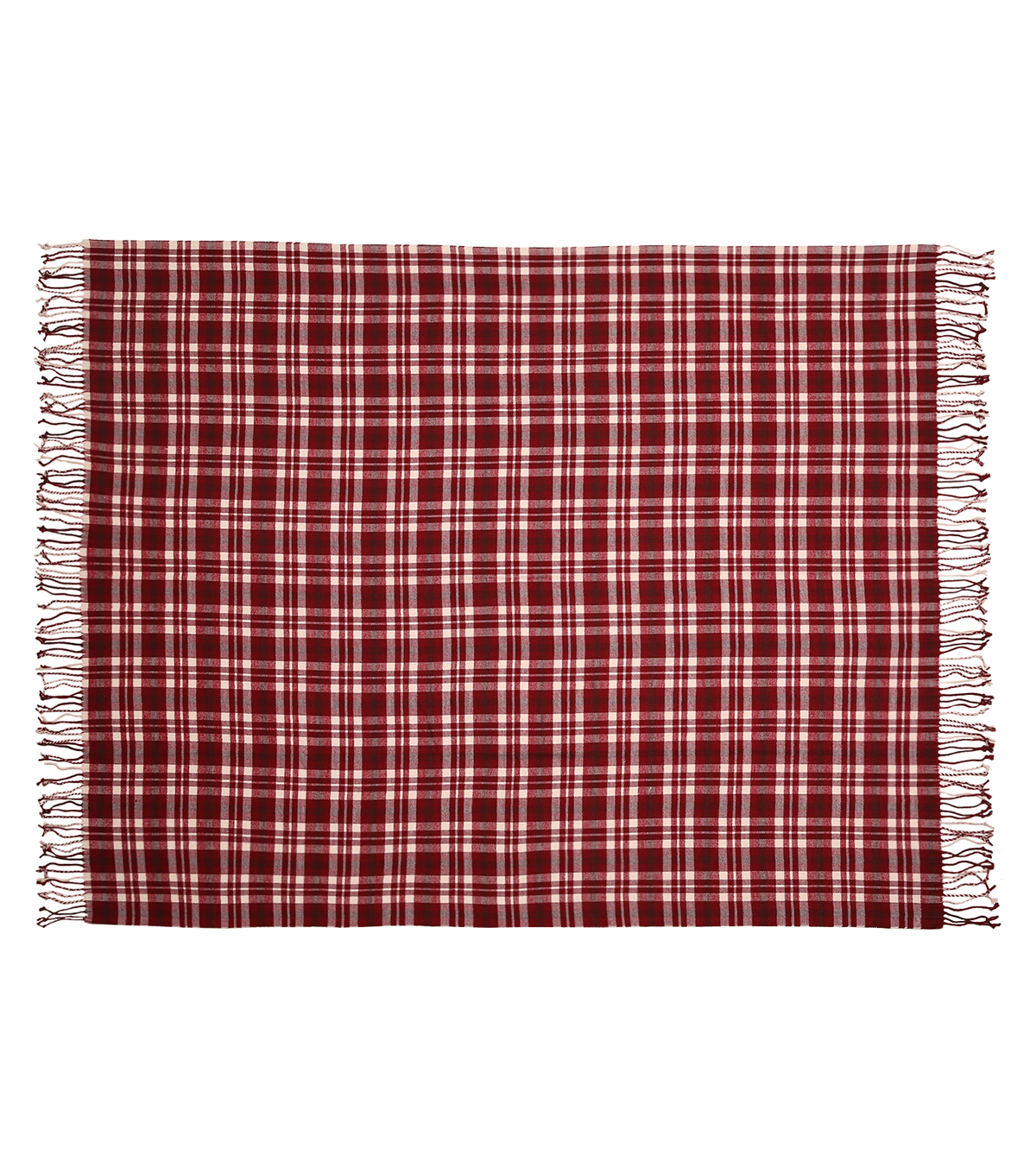 Simply Autumn 50x60\u0027\u0027 Plaid Throw-Burgundy