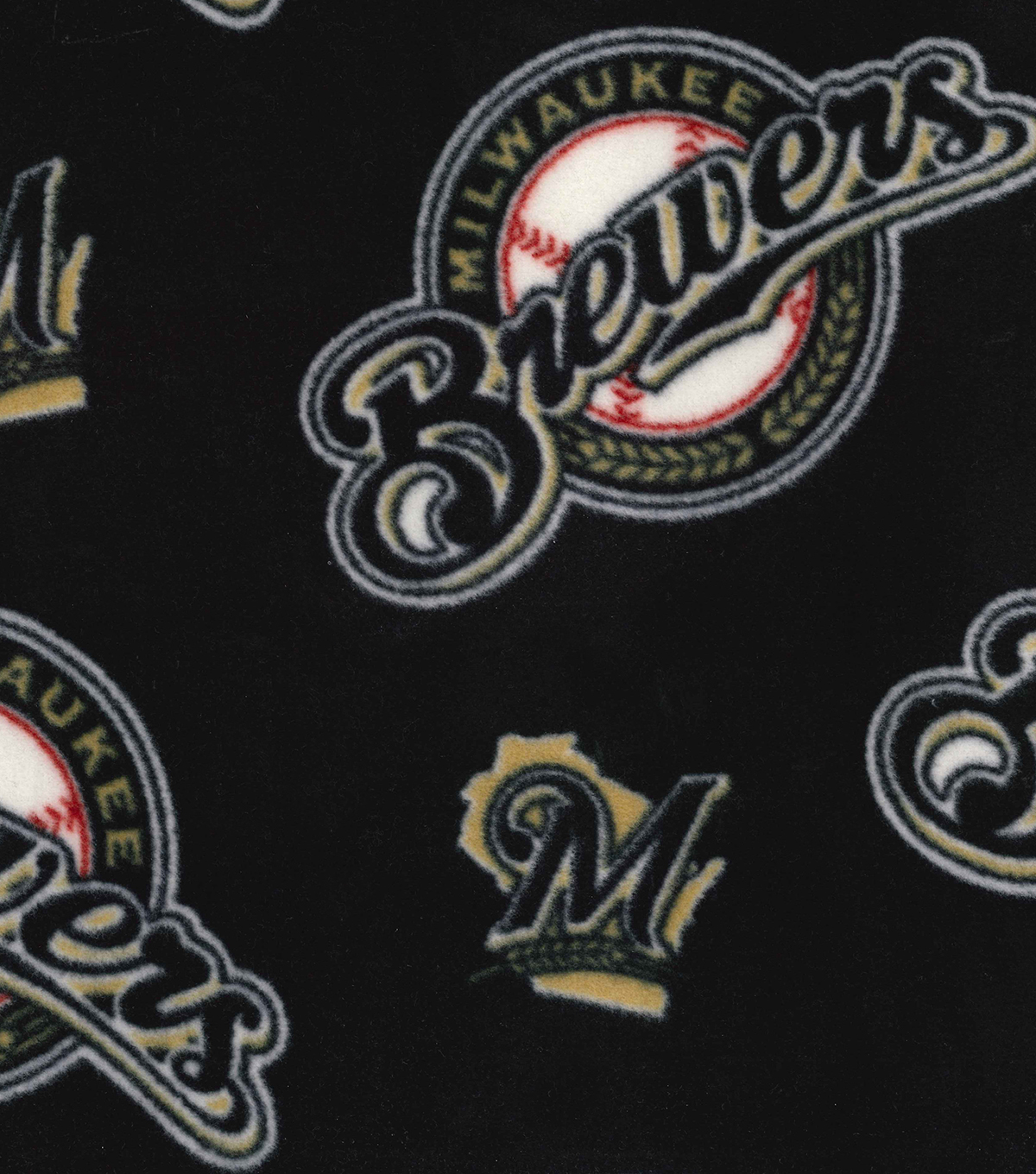 Milwaukee Brewers Fleece Fabric -Allover