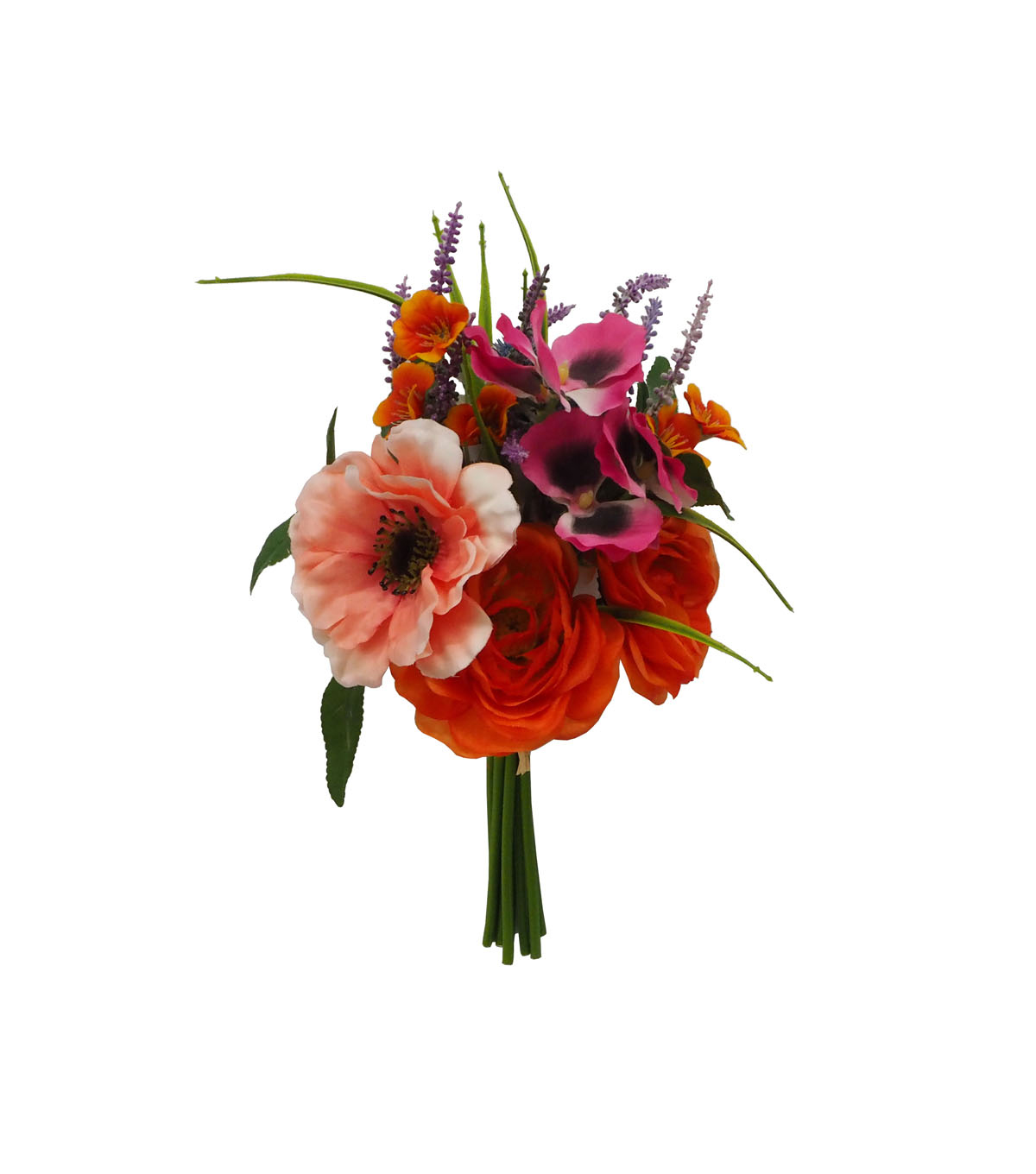 Fresh Picked Spring 13\u0027\u0027 Floral Bouquet-Orange