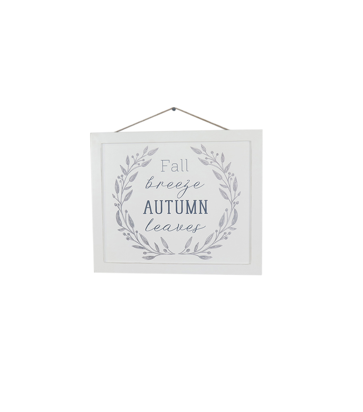 Simply Autumn White Breezy Autumn Wall Decor