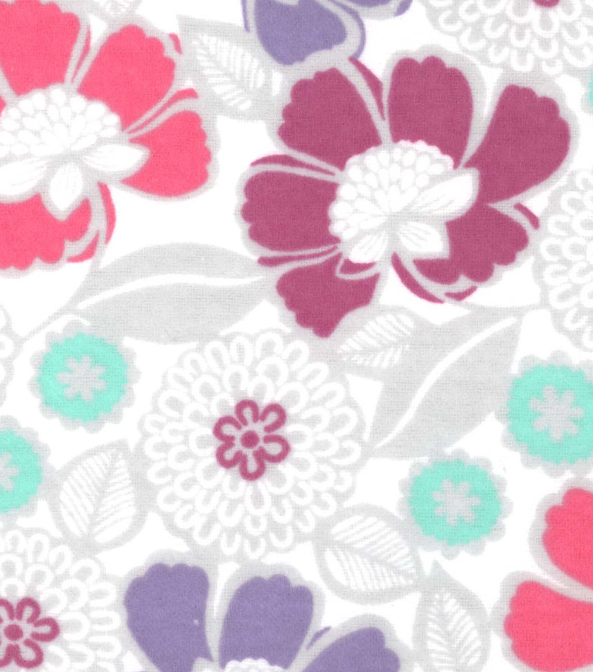 Snuggle Flannel Fabric -Gypsy Floral White